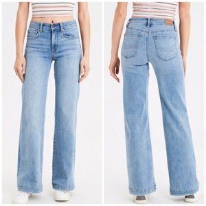 Sz 6 long high rise wide leg jeans